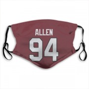 Arizona Cardinals Zach Allen Red Jersey Name & Number Face Mask