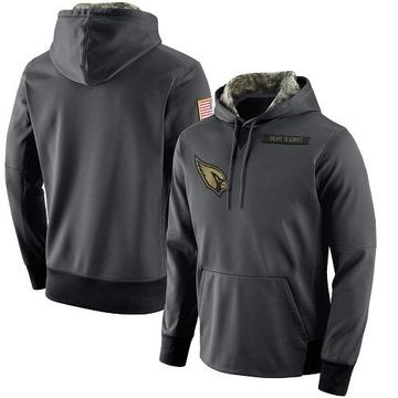 Men's Nike Arizona Cardinals Anthracite Salute to Service Player Performance Hoodie -