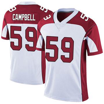 Men's Nike Arizona Cardinals De'Vondre Campbell White Vapor Untouchable Jersey - Limited