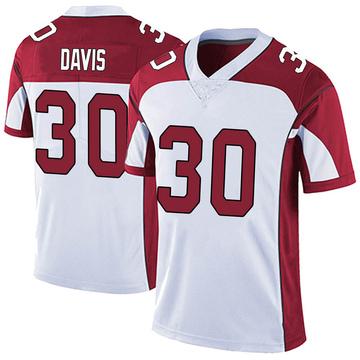 Men's Nike Arizona Cardinals Jalen Davis White Vapor Untouchable Jersey - Limited