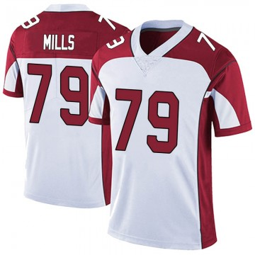 Men's Nike Arizona Cardinals Jordan Mills White Vapor Untouchable Jersey - Limited