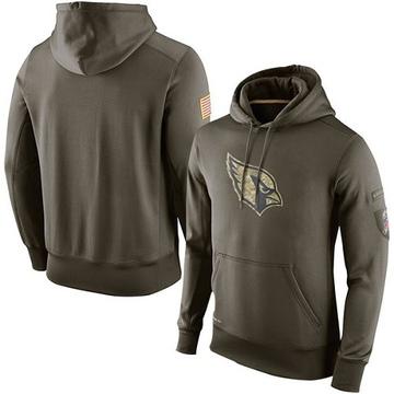 Men's Nike Arizona Cardinals Olive Salute To Service KO Performance Hoodie -