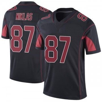 Men's Arizona Cardinals Troy Niklas Black Color Rush Vapor Untouchable Jersey - Limited