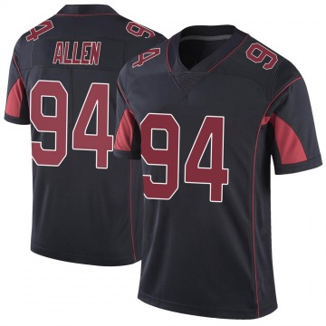 Men's Arizona Cardinals Zach Allen Black Color Rush Vapor Untouchable Jersey - Limited
