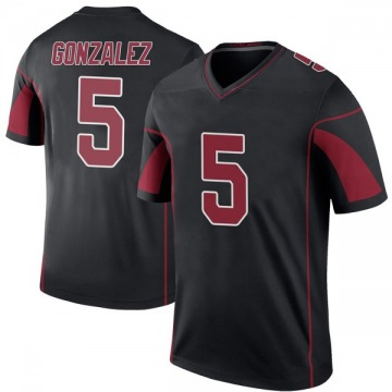 Men's Arizona Cardinals Zane Gonzalez Black Color Rush Jersey - Legend