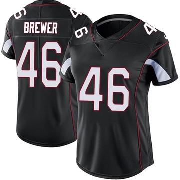 Women's Nike Arizona Cardinals Aaron Brewer Black Vapor Untouchable Jersey - Limited
