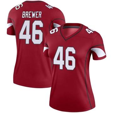 Women's Nike Arizona Cardinals Aaron Brewer Cardinal Jersey - Legend