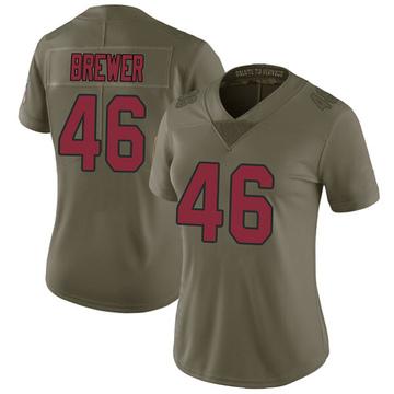 Women's Nike Arizona Cardinals Aaron Brewer Green 2017 Salute to Service Jersey - Limited