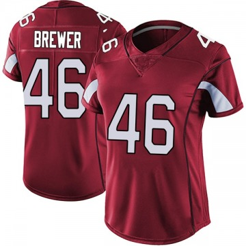 Women's Nike Arizona Cardinals Aaron Brewer Red Vapor Team Color Untouchable Jersey - Limited