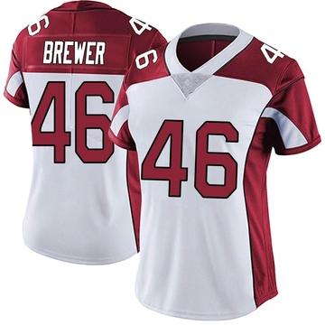 Women's Nike Arizona Cardinals Aaron Brewer White Vapor Untouchable Jersey - Limited
