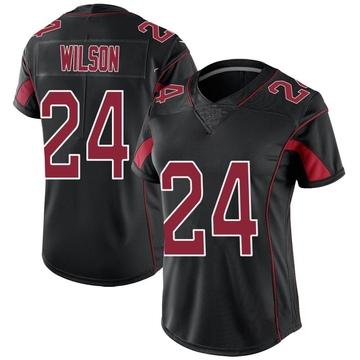 Women's Nike Arizona Cardinals Adrian Wilson Black Color Rush Jersey - Limited