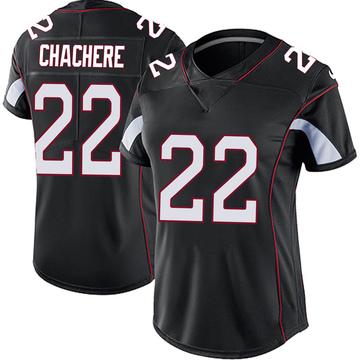 Women's Nike Arizona Cardinals Andre Chachere Black Vapor Untouchable Jersey - Limited