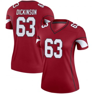 Women's Nike Arizona Cardinals Andrew Dickinson Cardinal Jersey - Legend