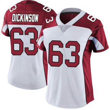 Women's Nike Arizona Cardinals Andrew Dickinson White Vapor Untouchable Jersey - Limited