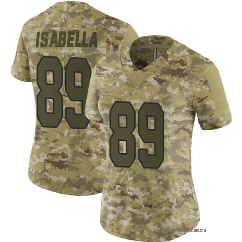 watch 4ca2d a32b4 Women's Nike Arizona Cardinals Andy Isabella Camo 2018 Salute to Service  Jersey - Limited