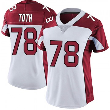 Women's Nike Arizona Cardinals Brett Toth White Vapor Untouchable Jersey - Limited