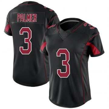 Women's Nike Arizona Cardinals Carson Palmer Black Color Rush Jersey - Limited
