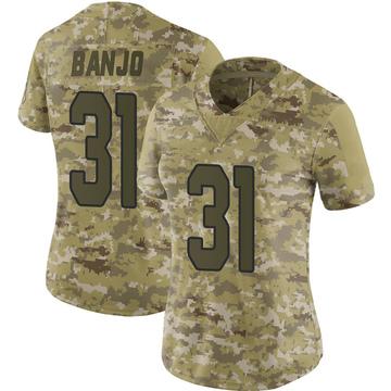 Women's Nike Arizona Cardinals Chris Banjo Camo 2018 Salute to Service Jersey - Limited