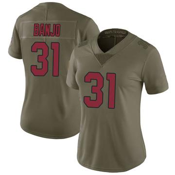 Women's Nike Arizona Cardinals Chris Banjo Green 2017 Salute to Service Jersey - Limited