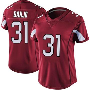 Women's Nike Arizona Cardinals Chris Banjo Red Vapor Team Color Untouchable Jersey - Limited