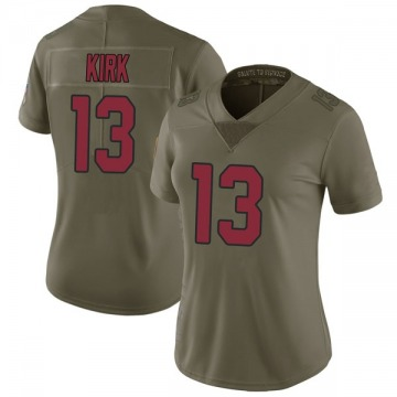 Women's Nike Arizona Cardinals Christian Kirk Green 2017 Salute to Service Jersey - Limited