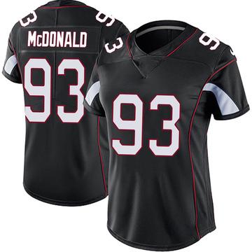 Women's Nike Arizona Cardinals Clinton McDonald Black Vapor Untouchable Jersey - Limited