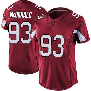 Women's Nike Arizona Cardinals Clinton McDonald Red Vapor Team Color Untouchable Jersey - Limited