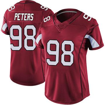 Women's Nike Arizona Cardinals Corey Peters Red Vapor Team Color Untouchable Jersey - Limited