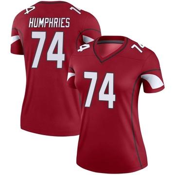 Women's Nike Arizona Cardinals D.J. Humphries Cardinal Jersey - Legend