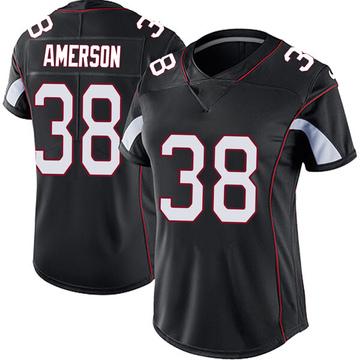 Women's Nike Arizona Cardinals David Amerson Black Vapor Untouchable Jersey - Limited