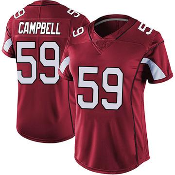 Women's Nike Arizona Cardinals De'Vondre Campbell Red Vapor Team Color Untouchable Jersey - Limited