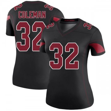 Women's Nike Arizona Cardinals Derrick Coleman Black Color Rush Jersey - Legend