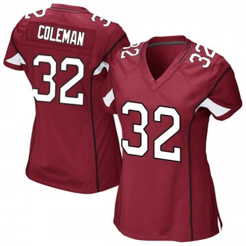 Women's Nike Arizona Cardinals Derrick Coleman Cardinal Team Color Jersey - Game