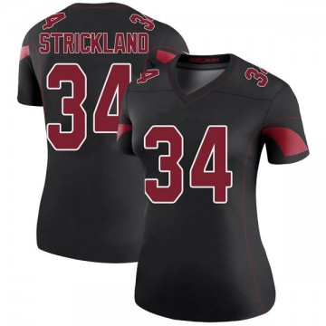 Women's Nike Arizona Cardinals Dontae Strickland Black Color Rush Jersey - Legend