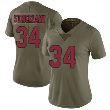 Women's Nike Arizona Cardinals Dontae Strickland Green 2017 Salute to Service Jersey - Limited