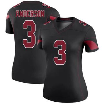 Women's Nike Arizona Cardinals Drew Anderson Black Color Rush Jersey - Legend