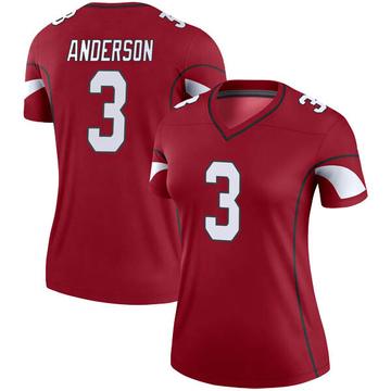 Women's Nike Arizona Cardinals Drew Anderson Cardinal Jersey - Legend