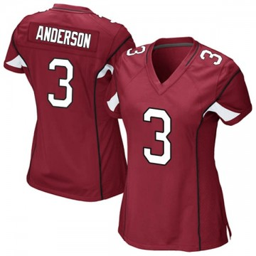 Women's Nike Arizona Cardinals Drew Anderson Cardinal Team Color Jersey - Game