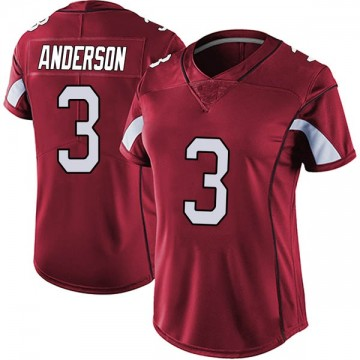 Women's Nike Arizona Cardinals Drew Anderson Red Vapor Team Color Untouchable Jersey - Limited