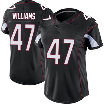 Women's Nike Arizona Cardinals Drew Williams Black Vapor Untouchable Jersey - Limited