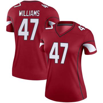 Women's Nike Arizona Cardinals Drew Williams Cardinal Jersey - Legend