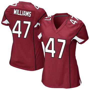 Women's Nike Arizona Cardinals Drew Williams Cardinal Team Color Jersey - Game