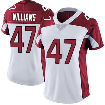 Women's Nike Arizona Cardinals Drew Williams White Vapor Untouchable Jersey - Limited