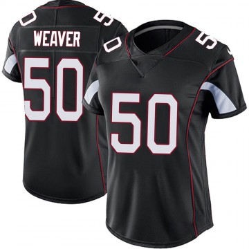 Women's Nike Arizona Cardinals Evan Weaver Black Vapor Untouchable Jersey - Limited