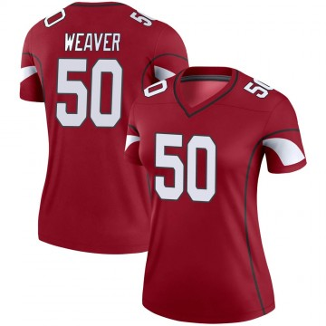 Women's Nike Arizona Cardinals Evan Weaver Cardinal Jersey - Legend