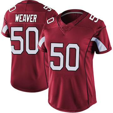 Women's Nike Arizona Cardinals Evan Weaver Red Vapor Team Color Untouchable Jersey - Limited