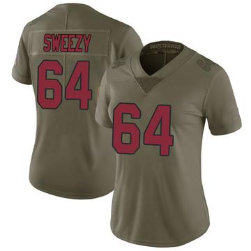 Women's Nike Arizona Cardinals J.R. Sweezy Green 2017 Salute to Service Jersey - Limited