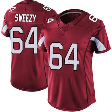 Women's Nike Arizona Cardinals J.R. Sweezy Red Vapor Team Color Untouchable Jersey - Limited
