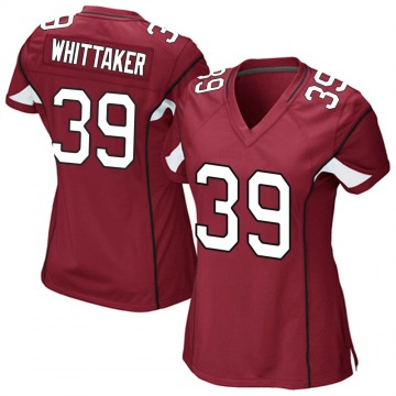Women's Nike Arizona Cardinals Jace Whittaker Cardinal Team Color Jersey - Game
