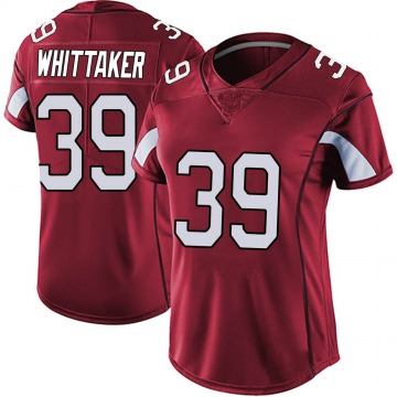 Women's Nike Arizona Cardinals Jace Whittaker Red Vapor Team Color Untouchable Jersey - Limited